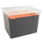 Sanitizable Orange Block - 100180 Grit 15 Pack (100260)