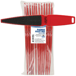 Pedicure Paddle Foot File Red 80120-grit 12 Pack (100309)