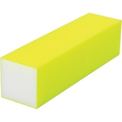 "Neon Buffing Block - 240 Grit - Yellow 1""H x 1""W x 3.75""L 20 Pack (100319)"