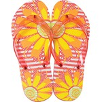 Women's Classic Flip Flops - Flower Fun Medium (Size 7-8) 1 Pair (100436)
