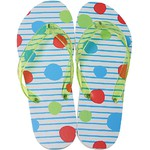 Women's Classic Flip Flops - Polka Dots Large (Size 9-10) 1 Pair (100446)