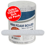 "Mini Foam Boards - Zebra - 120240 Grit - 3.5"" x .5"" 50 Pack (100496)"