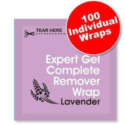 Expert Lavender Gel Complete Remover Wraps 100 Count (100550)