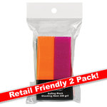 Shocking Neon Buffing Block - 240 Grit 2 Pack (100561)