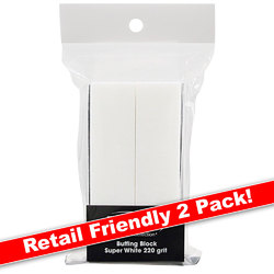Super White Buffing Block - 240 Grit 2 Pack (100562)