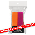 Shocking Neon Buffing Block - 240 Grit 12 Blocks - Six 2 Packs (100576)