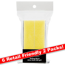 Ultra Gold Buffing Block - 240 Grit 12 Blocks - Six 2 Packs (100579)