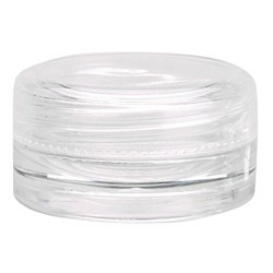 Round Clear Plastic Jar with Lid - 0.11 oz. 48 Count (100846)