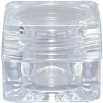Clear Plastic Square Jar with Clear Lid - 0.17 oz. each 48 Count (100863)