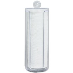 "Acrylic Cotton Pad Holder for 2"" Rounds - 2.75""D x 7.75""H (102308)"