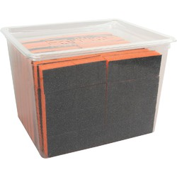 "Pre-Cut Mini Block - Black on Orange - 100180 Grit - 1"" L x 1"" W x .5"" H 128 Count (104714)"