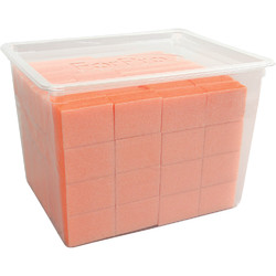 "Pre-Cut Mini Block - White on Orange - 100180 Grit - 1"" L x 1"" W x .5"" H 128 Count (104715)"