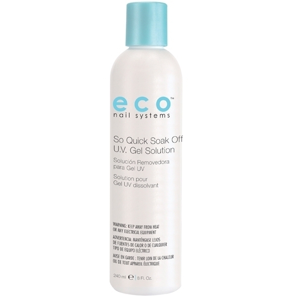 STAR NAIL Eco So Quick Soak Off UV Gel Solution 8 oz. (106110)