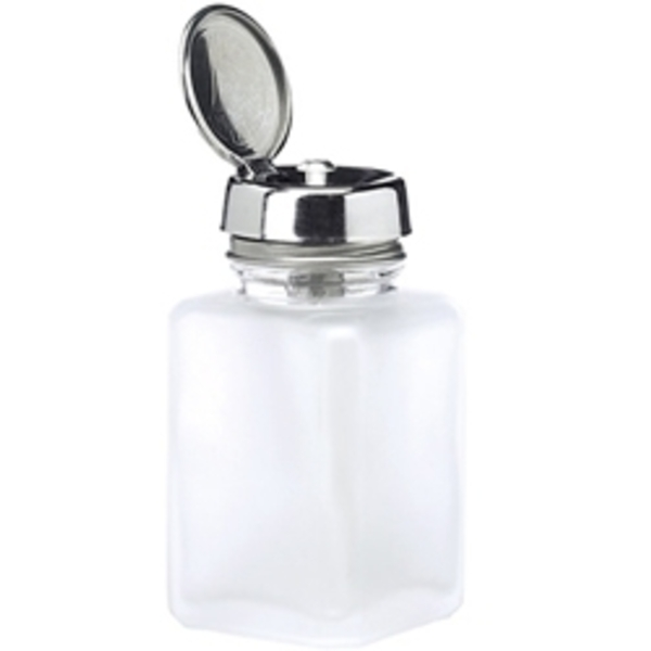 MENDA Frosted Clear Glass w Acrylic Pump 4 oz.
