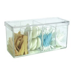 "Clear Acrylic Beauty Storage Container 3.75""H x 3.25""W x 8""L (109301)"