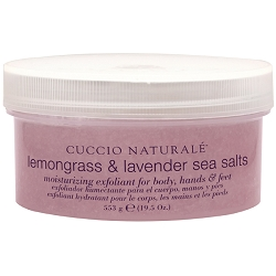 CUCCIO NATURALE Sea Salts for Hands & Body Lemongrass & Lavender 19.5 oz. (109846)