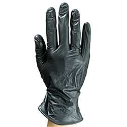 Colortrak Black Vinyl Powder-Free Gloves - Medium 100 Box (110216)