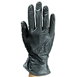 Colortrak Black Vinyl Powder-Free Gloves - Large 100 Box (110217)