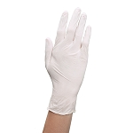 White Powdered Latex Gloves - Large 100 Box (110249)