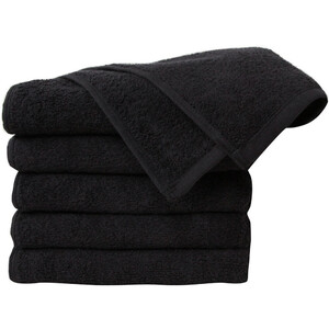 "Premium 100% Cotton All-Purpose Towels - Black - 410GSM - 16"" x 27"" 24 Count (110543)"