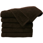 "Premium 100% Cotton All-Purpose Towels - Chocolate - 410GSM - 16"" x 27"" 24 Count (110548)"
