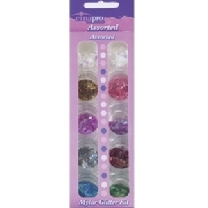 CINAPRO NAIL CREATIONS Assorted Mylar Glitter Kit