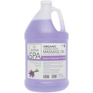 La Palm Products Sweet Lavender Dreams Aromatherapy Massage Oil 1 Gallon (140064)