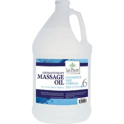 La Palm Products Fragrance Free Aromatherapy Massage Oil 1 Gallon (140065)