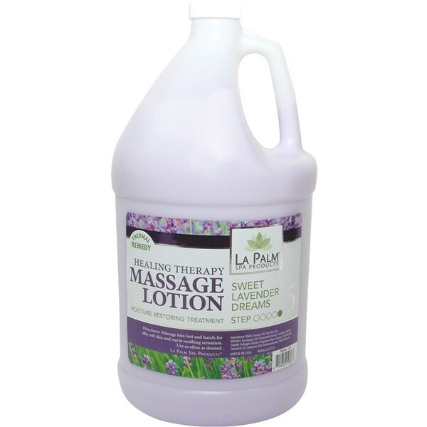 La Palm Products Sweet Lavender Dreams Healing Therapy Massage Lotion 1 Gallon (140067)