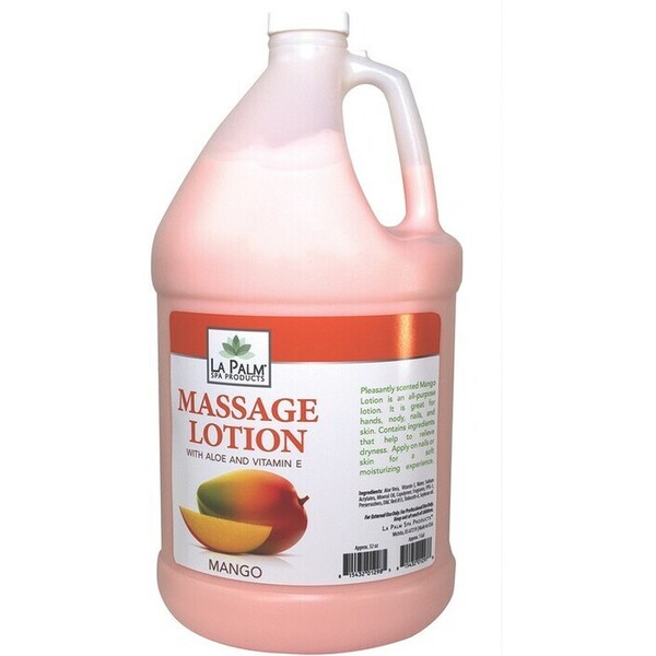 La Palm Products Massage Lotion Mango 1 Gallon (140106)