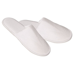 Cotton Towel Slippers Closed Toe 1 Pair (140284)