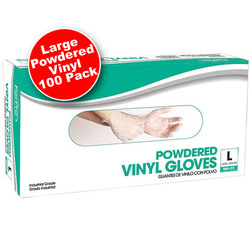 Powdered Vinyl Gloves - Large 100 Count (140403)