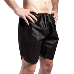 Men's Disposable Black Boxer Short 50 Count (140510)