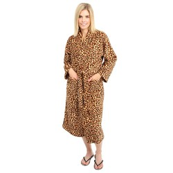 Diva Premium Leopard Fleece Spa Robe (140590)