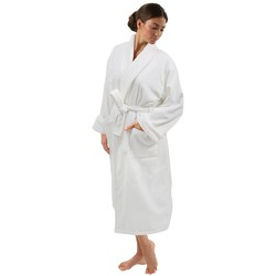 "Microfiber Plush Bathrobe - White One Size Fits Most - 49"" length 23"" Sleeves (140595)"