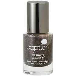 Caption Extended Wear Polish - Top Effects - Screaming @ The Top Of My Lungs - Iridescent Shimmer Black Spray Glitter Effect 0.34 oz. (160115)