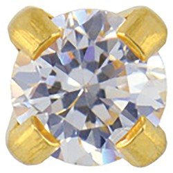 Studex Gold Plated Cubic Zirconia - Tiffany Setting - 3mm (180990)