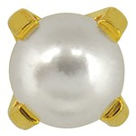 Studex Gold Plated White Pearl - Tiffany Setting - 4mm (181000)