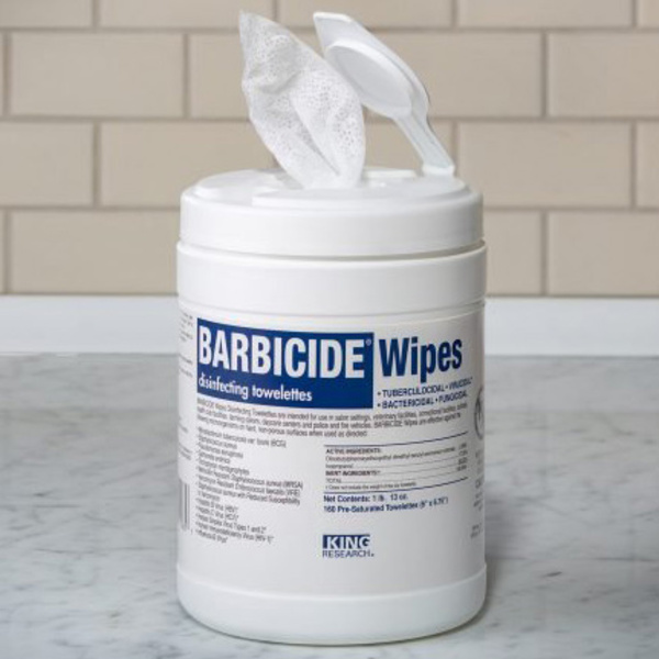 BARBACIDE® Wipes 160-Count
