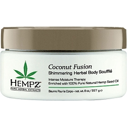 Hempz Coconut Fusion Shimmering Herbal Body Souffle 8 oz. (202140)