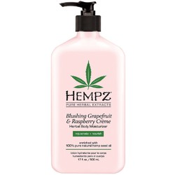 Hempz Herbal Body Moisturizer - Blushing Grapefruit & Raspberry Creme 17 oz. (205415)