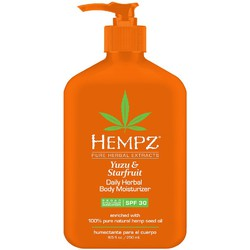 Hempz Yuzu & Starfruit Daily Herbal Body Moisturizer - Broad Spectrum SPF 30 8.5 oz. (205642)