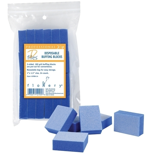 Flowery Buffing Blocks - Blue 24 Count (301181)