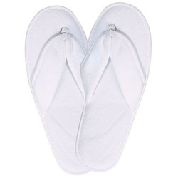 Cotton Terry Spa Sandal Slipper - White 1 Pair (301219)
