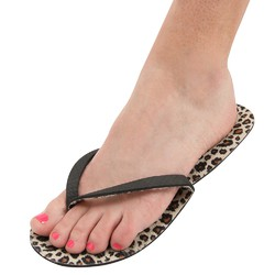 Diva Leopard Pedi Slippers 12 Count (301394)