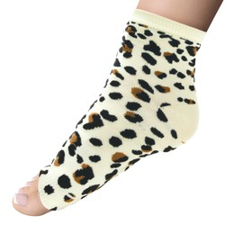 Super Duper Extra Long Pedi Socks - Diva Leopard 1 Pair (301441)