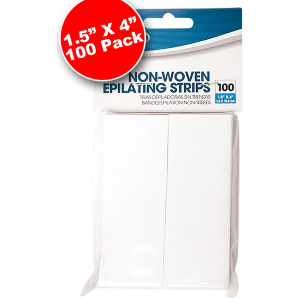 "Non-Woven Epilating Strips 1.5"" x 4"" 100 Count (301508)"