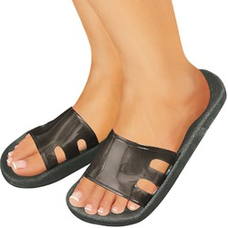 Virgin PVC Soft Spa Sandals - Charcoal Gray Medium - 1 Pair (301750)