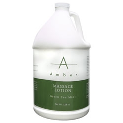 AMBER PRODUCTS Lotion Green Tea Mint 1 Gallon