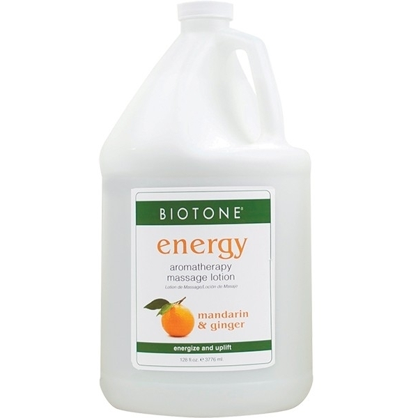 Aromatherapy Massage Lotion - Energy Mandarin + Ginger + Lemongrass 1 Gallon (307140)
